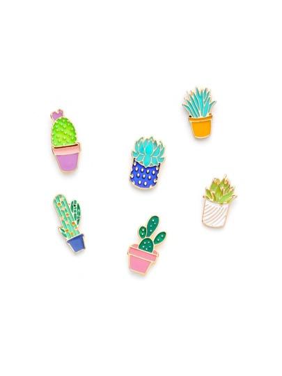 Ensemble de broche mignon design de plant