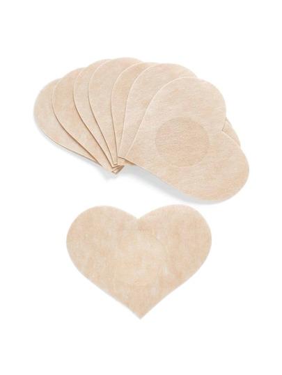 Couverture de mamelon en forme de cœur 5paires