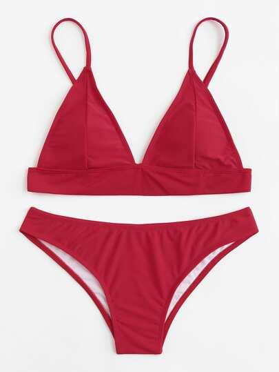 Set de bikini con tiras ajustables