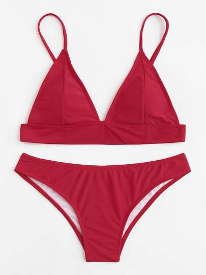 Ensemble de Bikini avec lacet ajustable