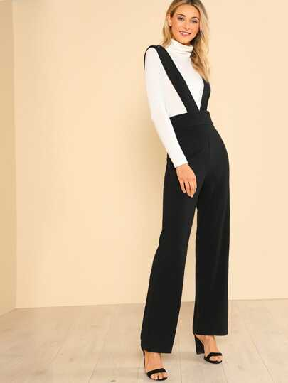 Tank Solid Jumpsuit BLACK
