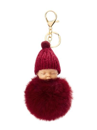 Baby Design Pom Pom Keychain