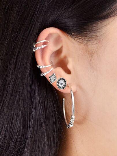 Set di orecchini 7 pezzi