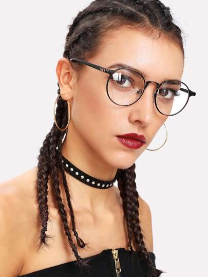 Gafas de marco de metal