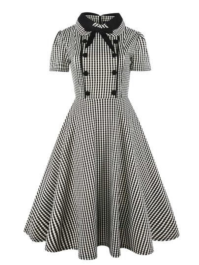 فستان-بازرار بعقدة العنق بشكل قميص