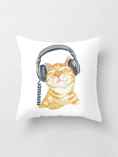Cat Print Pillowcase Cover