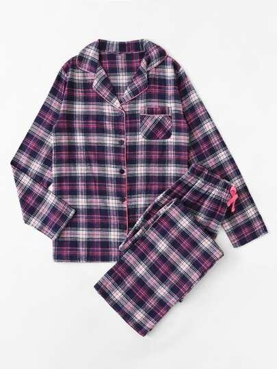 Ensemble de Pyjama à carreaux