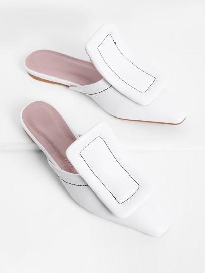 Chaussures plates PU avec bout carré