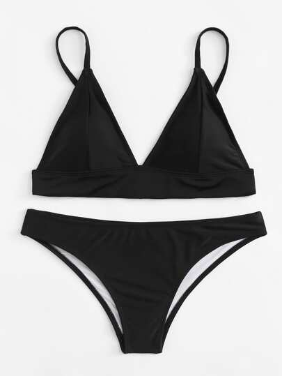 Adjustable Straps Bikini Set