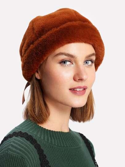Cappello in pelliccia sintetica
