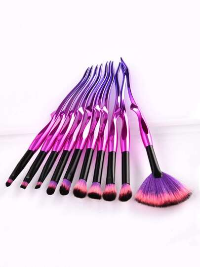 Ombre Handle Eye Brush 10pcs