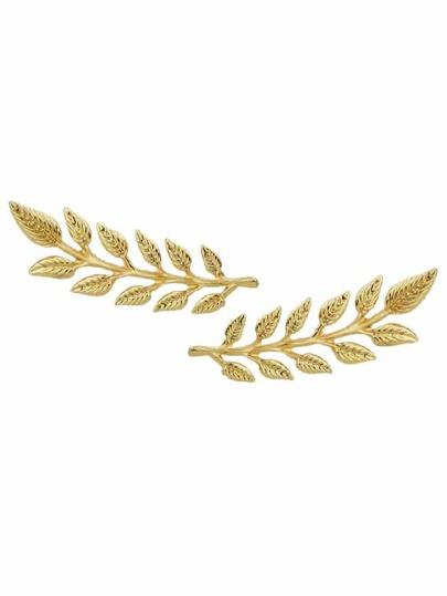 Broche en forme des feuilles 2 pièces/paires