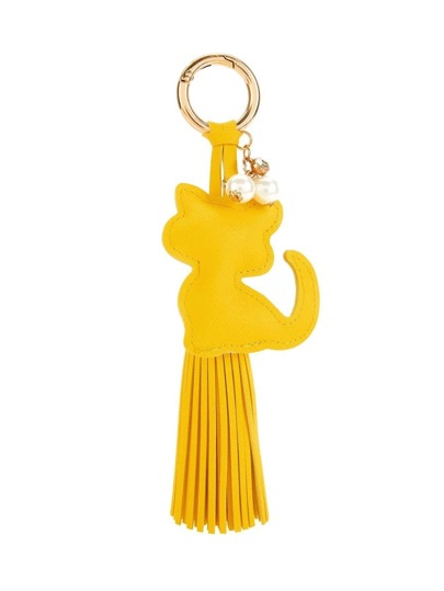 Cat Design Tassel Keychain