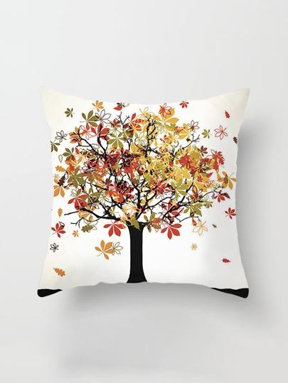 Funda de almohada con estampado de árbol