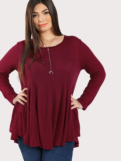 Solid Ribbed Swing Top RUBY