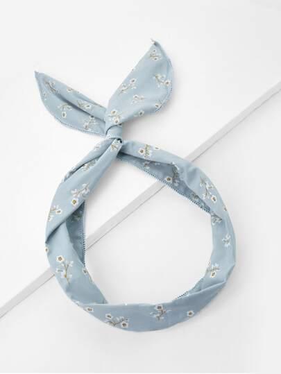 Calico Print Knot Headband