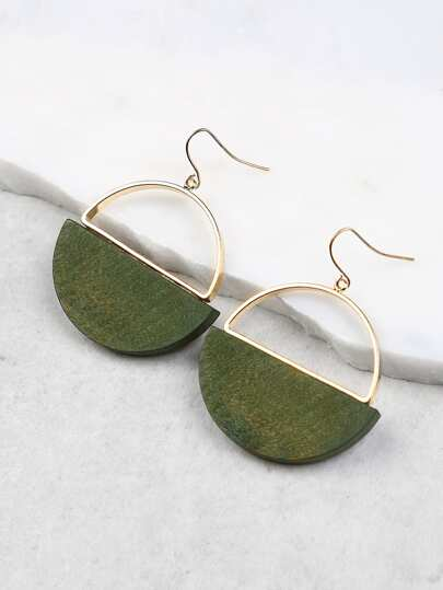 Cut Out Circle Earrings OLIVE