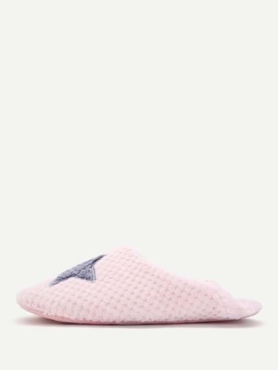 Star Pattern Flat Slippers
