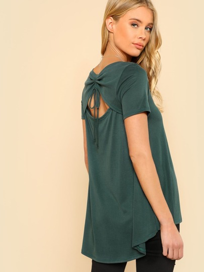 Back Tie Up Top GREEN