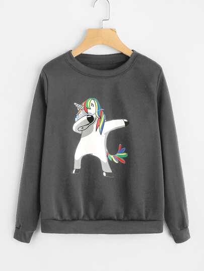 Sudadera con unicornio