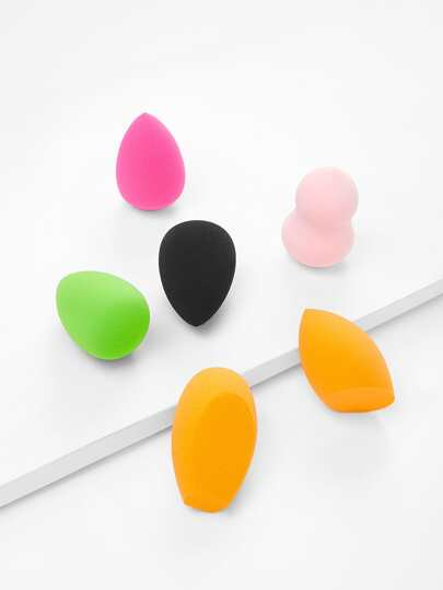 Multi Shaped Makeup Puff 6pcs
