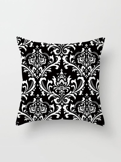 Funda de almohada con estampado de damasco