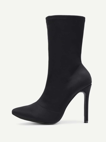 Pointed Toe Stiletto Heeled Boots