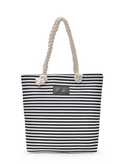 Striped Detail Shopper Bag