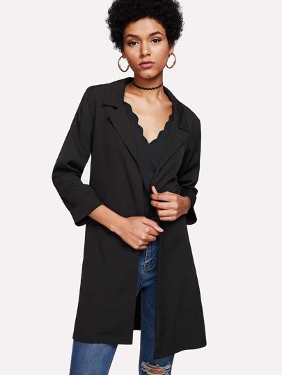 Notch Lapel Split Side Coat