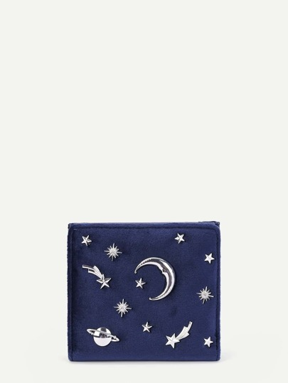 Moon & Star Detail PU Wallet