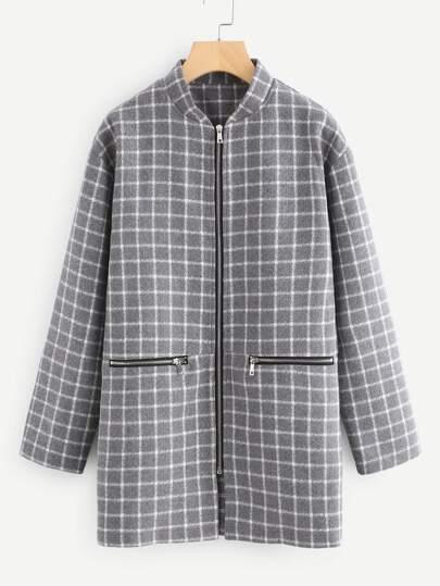 Manteau avec zip