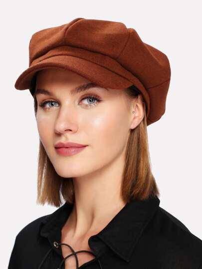 Sombrero de vendedor de periódicos mezclado de lana