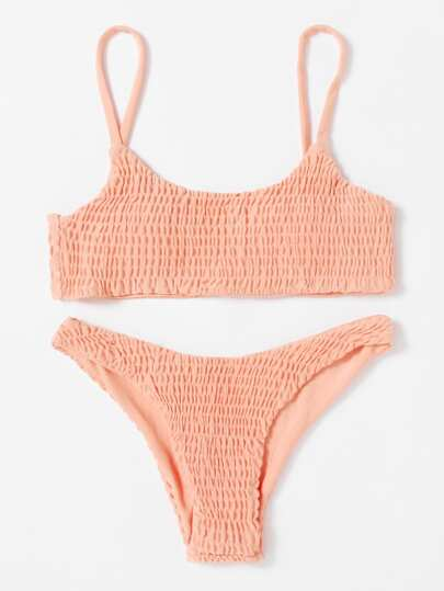 Ruched Cami Bikini Set