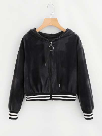 O-Ring Zip Hooded Jacket