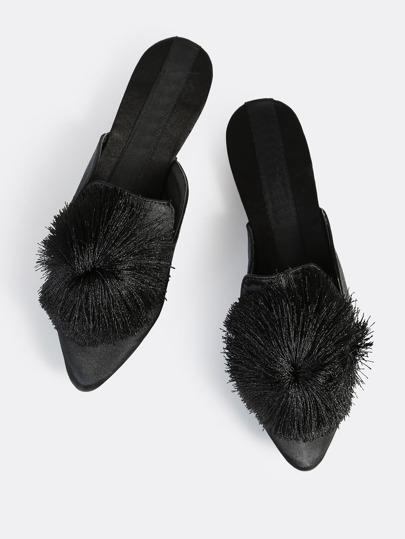 Pom Pom Slides BLACK