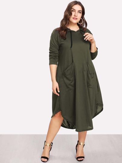 Dual Pocket Hooded Dress