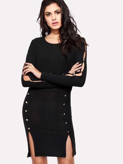 Cut Out M-slit Dress