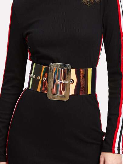 Ombre Square Buckle Belt
