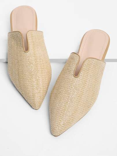 Zapatillas tejidas de punta