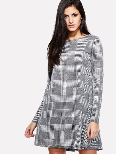 Houndstooth Swing Dress