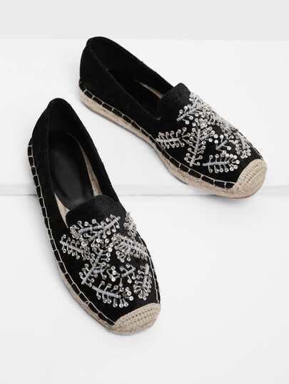 Zapatillas cap toe con diseño de diamante de imitación