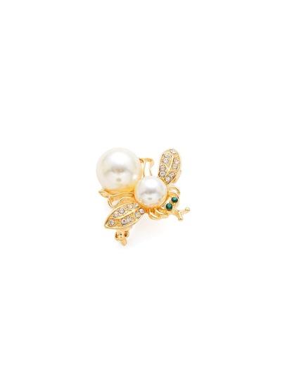 Broche design d\'insecte avec double perles fausses