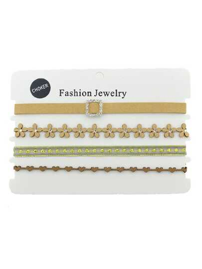Lace Choker Necklace Set
