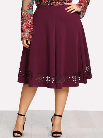 Floral Laser Cut Skirt