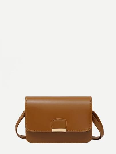 PU Flap Shoulder Bag