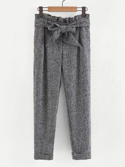 Frill Waist Self Tie Pants bed330db29cb