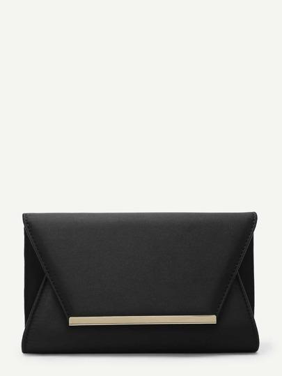 Metal Detail Clutch Bag