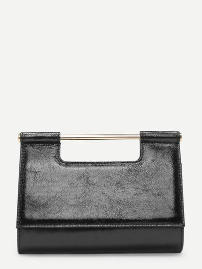 PU Clutch Bag With Chain Handle