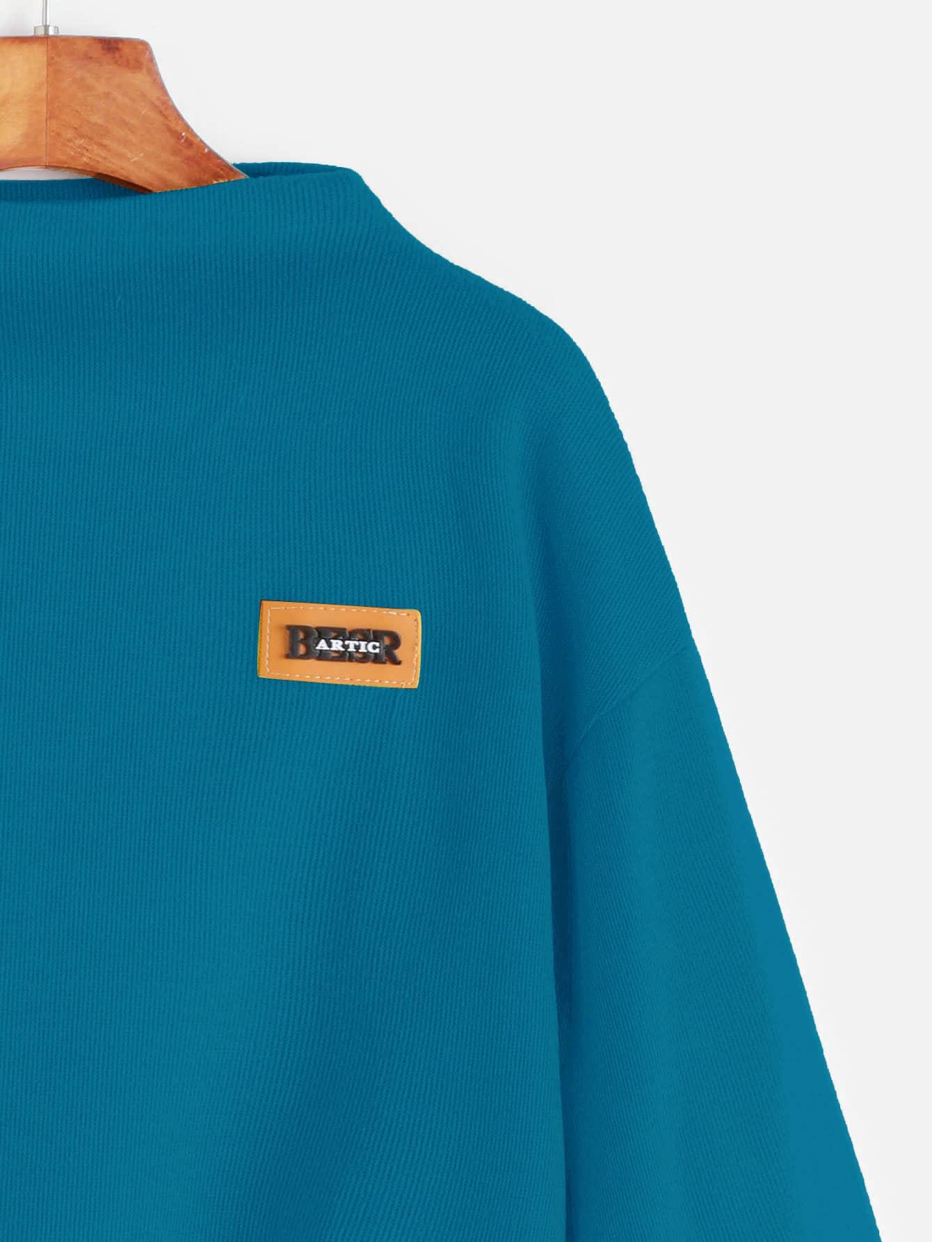 Bishop Sleeve Patch Sweatshirt