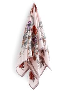 Flower Print Satin Bandana